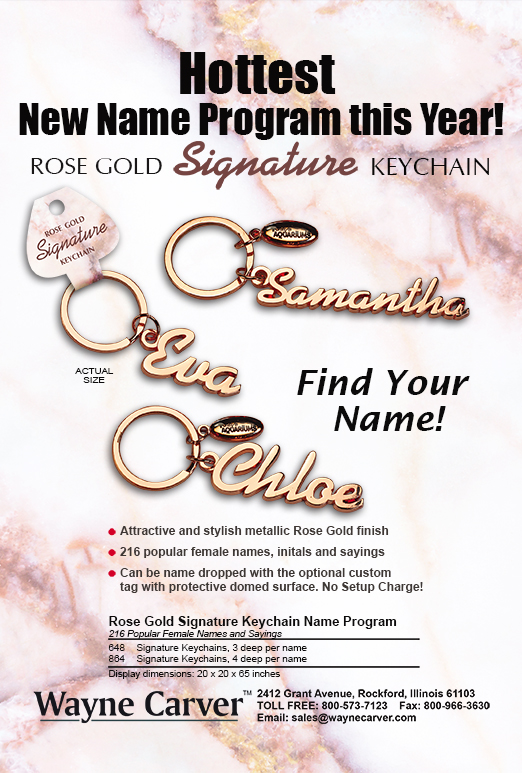 Rose Gold Keychains
